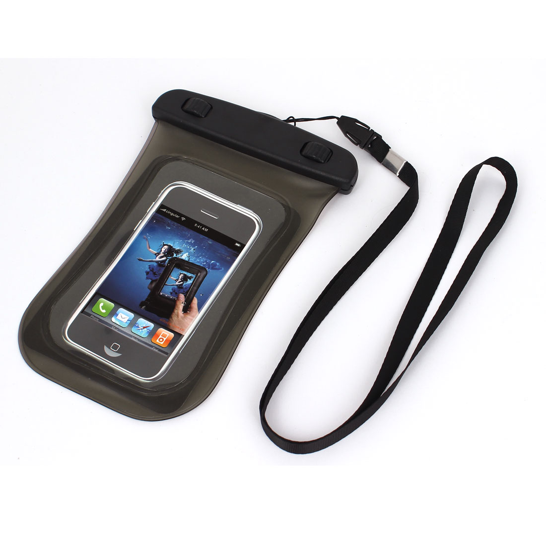 Unique Bargains Universal Waterproof Case Dry Bag Protective Cover Pouch Gray for 4  Cell Phone