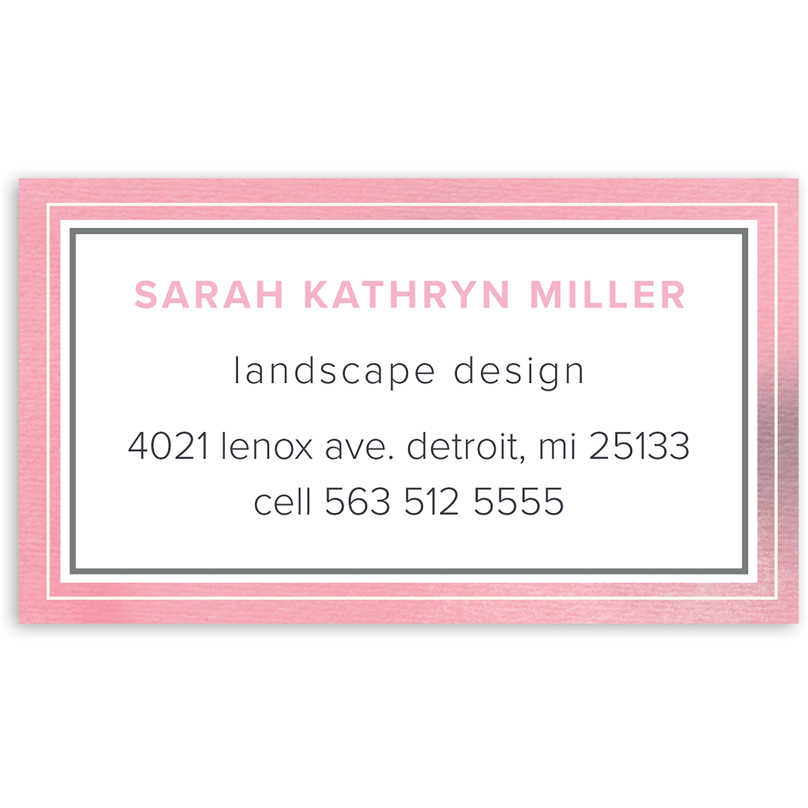 Graceful Script - Personalized 3.5 x 2 Business Card