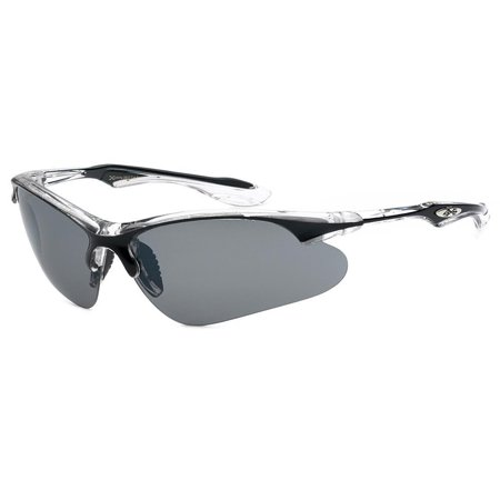 New Large Wrap Around Half Frame Mens Sunglasses Cycling Baseball Sport (Best Glasses Frame For Long Face)