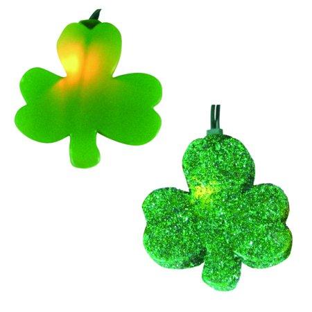 Set of 10 Irish St. Patricks Clover Shamrock Novelty Christmas Lights - White Wire