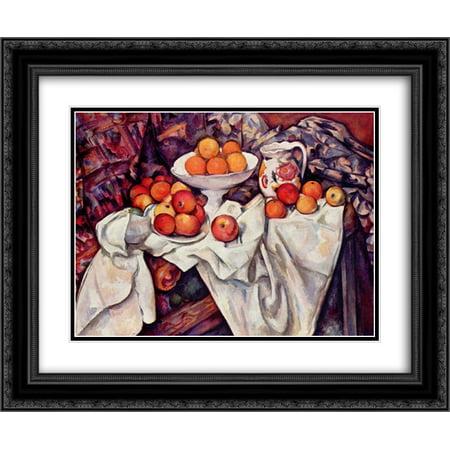 - Paul Cezanne 2x Matted 24x20 Black Ornate Framed Art Print 'Apples and Oranges '