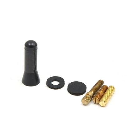 Black 3.5cm Carbon Fiber Screw Aluminum Alloy Car Short Stubby Radio (Best Short Car Antenna)