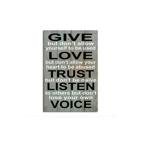 Image of African American Expressions Give Love Trust Textual Art Plaque