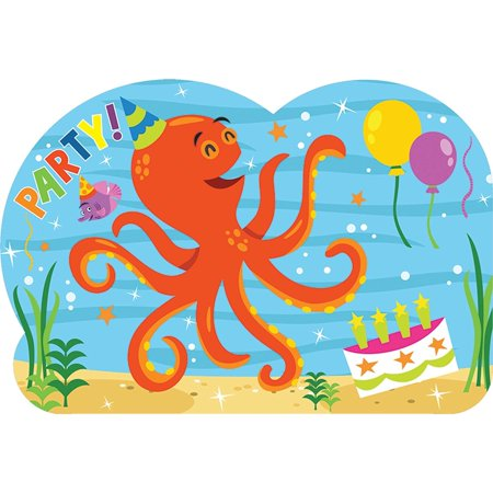 Ocean Buddies (Amscan Ocean Buddies Party Invitations, 8 Count)