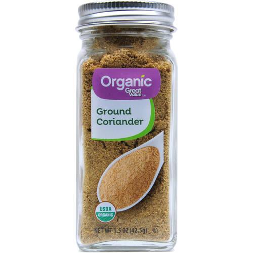Great Value Organic Ground Coriander, 1.5 oz