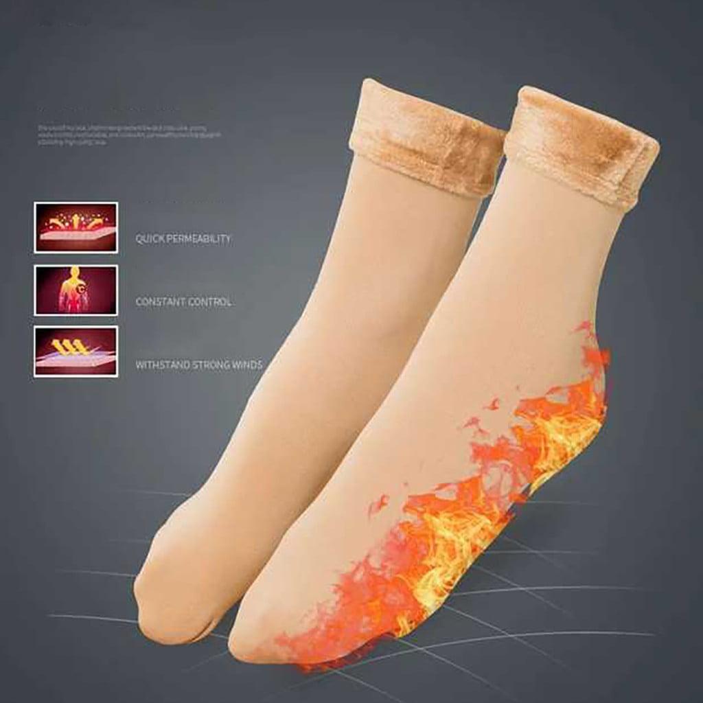 Details about  /Snow Boots Seamless Thicken Sleeping Socks Snow Socks Velvet Floor Hosiery