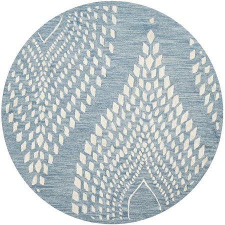 Safavieh Bella 5' Round Hand Tufted Wool Rug in Blue and Ivory - image 1 of 1