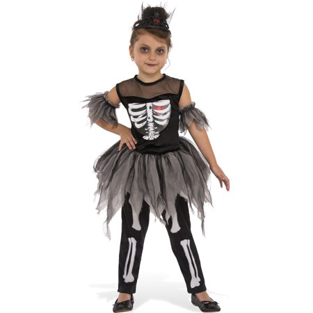 Skelerina Girls Zombie Demon Skeleton Ballerina Child Halloween Costume](Halloween Demon Costume)