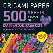 "Origami Paper 500 Sheets Kaleidoscope Patterns 4"" (10 CM) : Tuttle Origami Paper: High-Quality Double-Sided Origami Sheets Printed with 12 Different Patterns (Includes Instructions for 8 Projects)"
