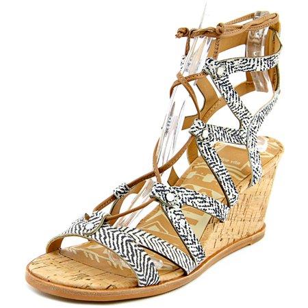 Dolce Vita Lynnie Women  Open Toe Leather Black Wedge Sandal