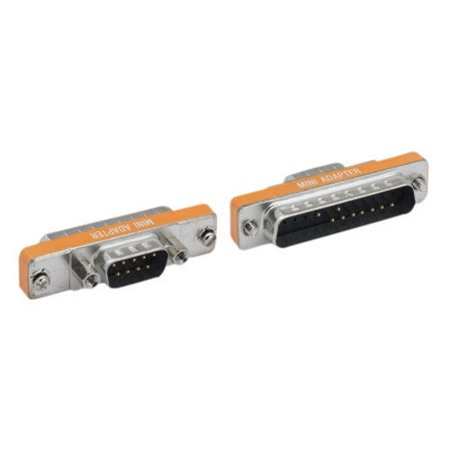 Mini Coupler - Kentek Mini DB9 DB25 Male to Male M/M Serial AT Modem Mini Adapter Gender Changer Coupler RS-232 PC Peripherals