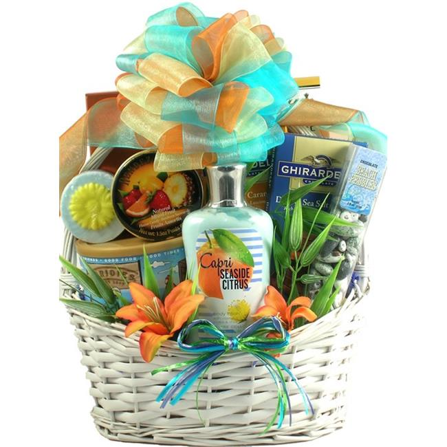 Gift Basket Drop Shipping SeScSa Seaside Scent-sation, Tropical Spa & Gourmet Gift Basket