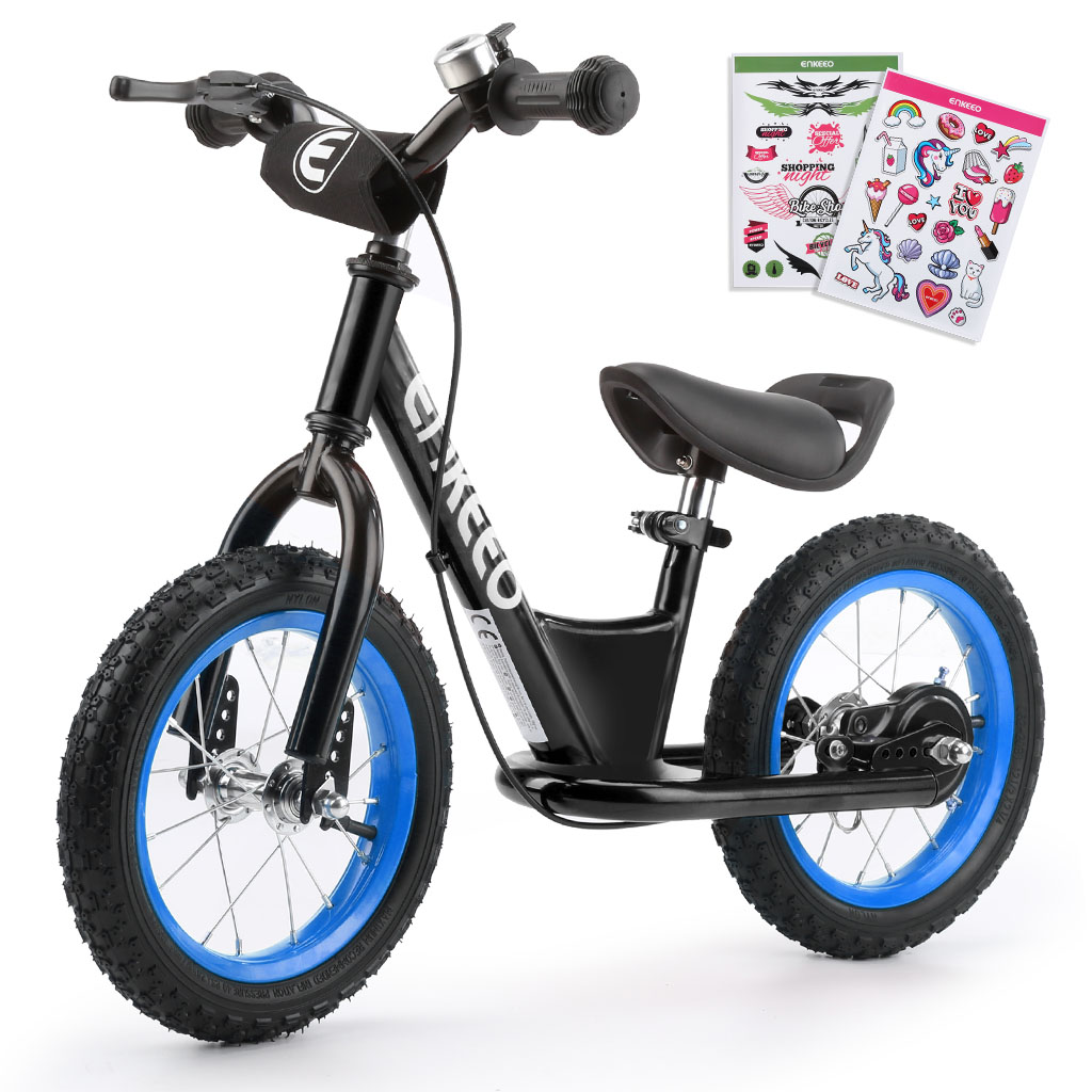 ENKEEO 14 Sport Balance Bike No Pedal Control Walking Bicycle Transitional Cycling Training with Adjustable Seat and Upholstered Handlebars for Kids Toddlers