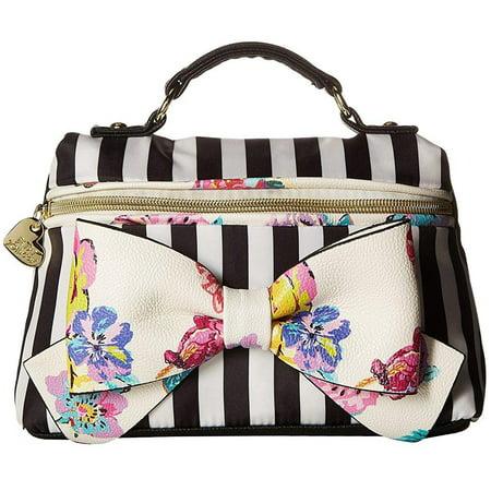 Betsey Johnson Womens Top Handle Cosmo Floral Handbag