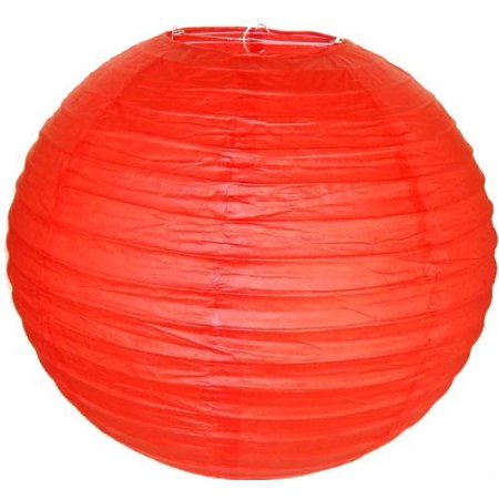 M.V. Trading LNT10ER-RD Colorful Chinese/Japanese Round Paper Lanterns with Metal Frame, 10-Inches, - Paper Trading App