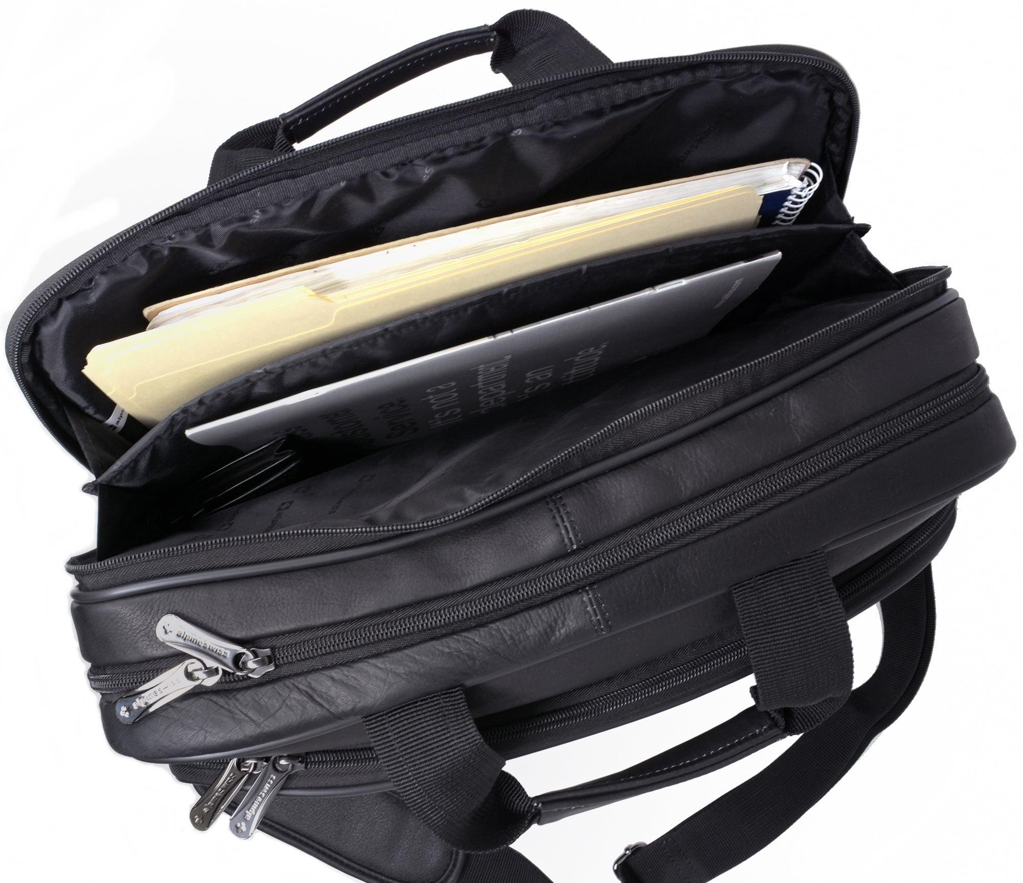 42e9bdedb Alpine Swiss - Alpine Swiss Messenger Bag Leather 15.6 Laptop Briefcase  Portfolio Business Case - Walmart.com