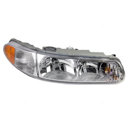 Passengers Headlight Headlamp with Corner Lamp Replacement for Buick 19244638 Buick Rendezvous Replacement Headlight