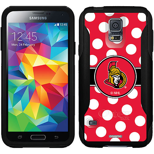 Ottawa Senators Polka Dots Design on OtterBox Commuter Series Case for Samsung Galaxy S5