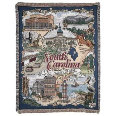 South Carolina   The Palmetto State   Tapestry Throw Blanket 50   X 60