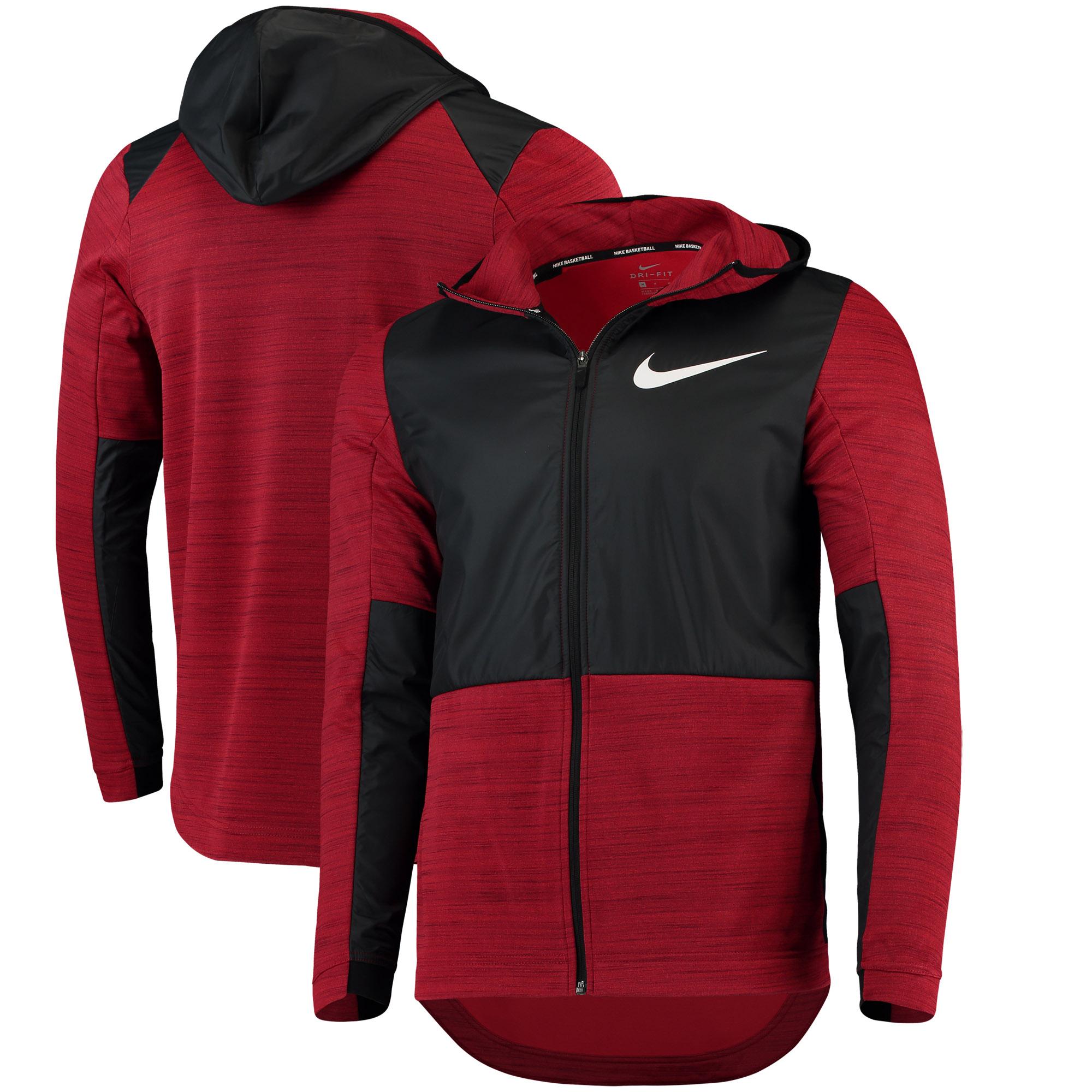 NBA Nike Basketball Performance Full-Zip Hoodie - Red/Black