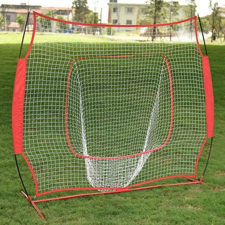 Baseball Train Net Rack Rebound Goal Red