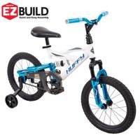 """Huffy 16"""" DS 1600 Boys' Bike for Kids with EZ Build, White"""