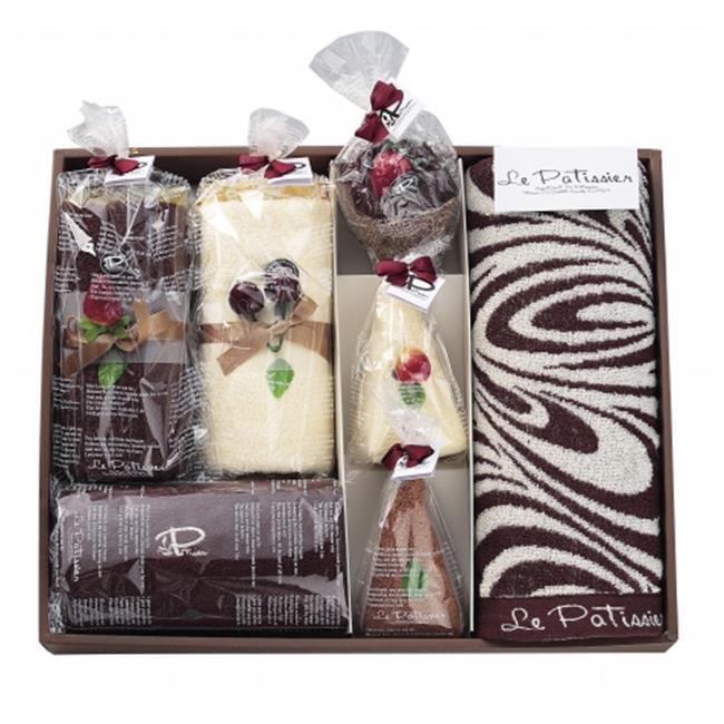 Prairiedog America INC LPS-841 Complete Swirl Bath Towel Gift Set - Midium