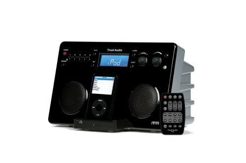 Tivoli iYiYi High_Fidelity AM_FM Stereo System with Alarm Clock and iPod Dock Black_Silver by Tivoli Audio