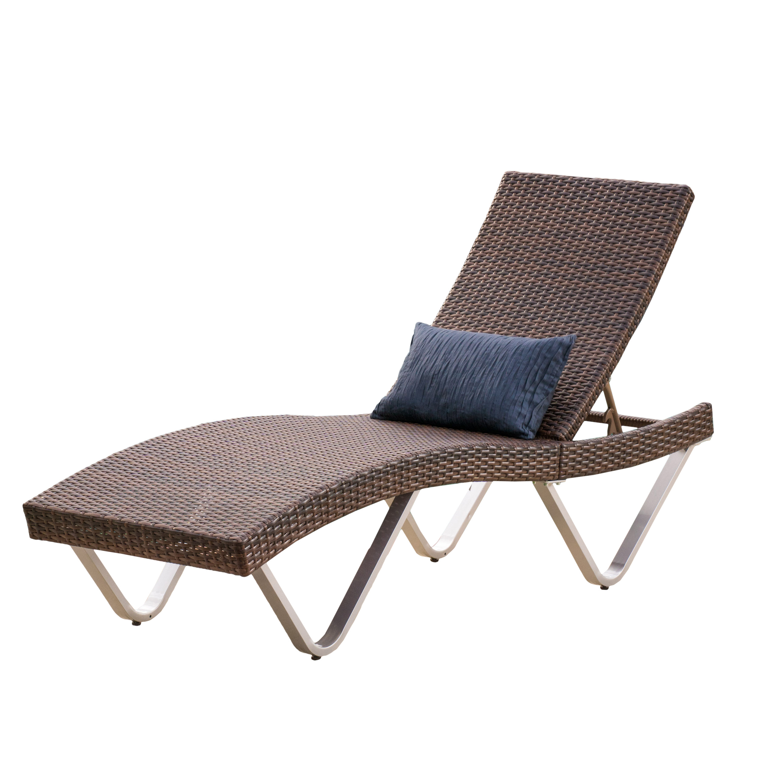 San Jose Outdoor Wicker Single Chaise Lounge