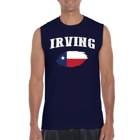 Irving Texas Mens Sleeveless Shirts - Halloween City Irving Texas