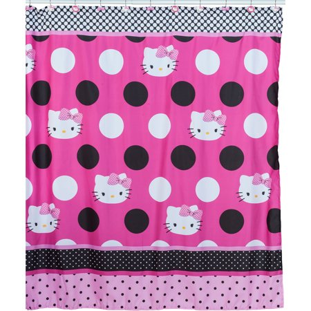 Hello Kitty Dots JAdore Fabric Shower Curtain 1 Each