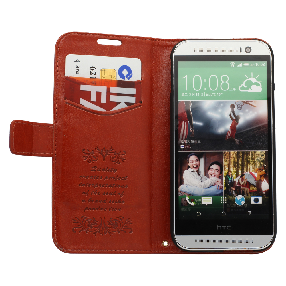 HTC ONE M8 Case, Verus Layered Dandy - PU Leather Wallet phone shell