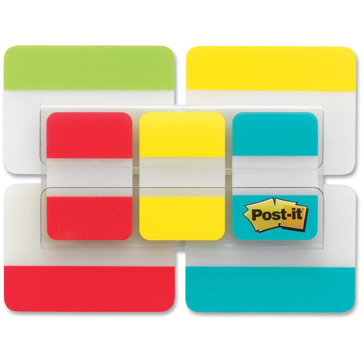 Post-it Tabs Value Pack, Assorted Primary Colors, 1 in. and 2 in. Sizes, 114 Tabs/Pack