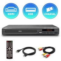 Mediasonic All Region DVD Player  Upscaling 1080P HDMI / AV Output, USB Multimedia Player Function, High Speed HDMI 2.0 & AV Cable Included (HW210AX)