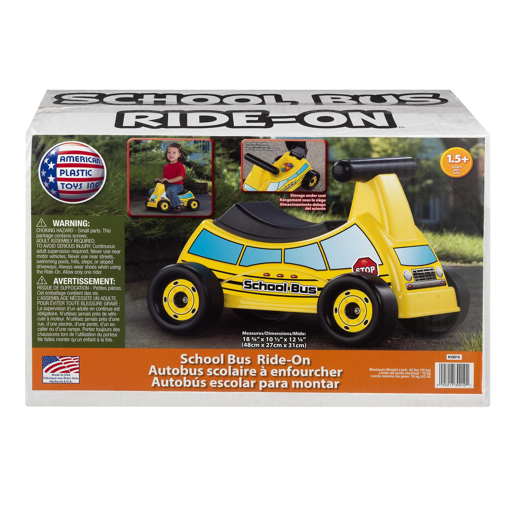American Plastic Toy School Bus Ride-On, 1.0 CT