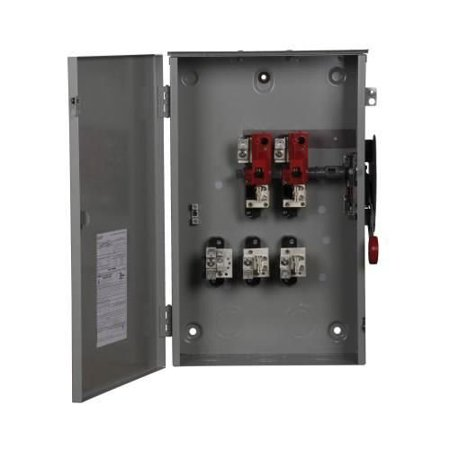 3 Pole Disconnect Switch (Eaton DG224NRK 3 Wire 2 Pole Fusible K Series General-Duty Safety Switch 240 Volt AC 200 Amp NEMA 3R)