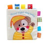 Follure Baby Lovely Dog Cloth Book Baby Toy Cloth Development BB Sound Books