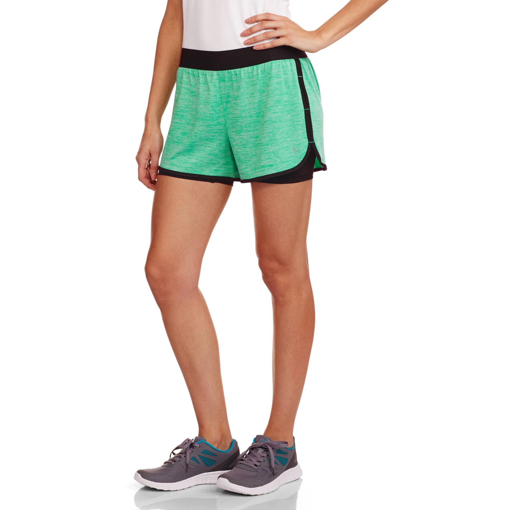 Danskin Now Women's Active 2fer Knit Running Short