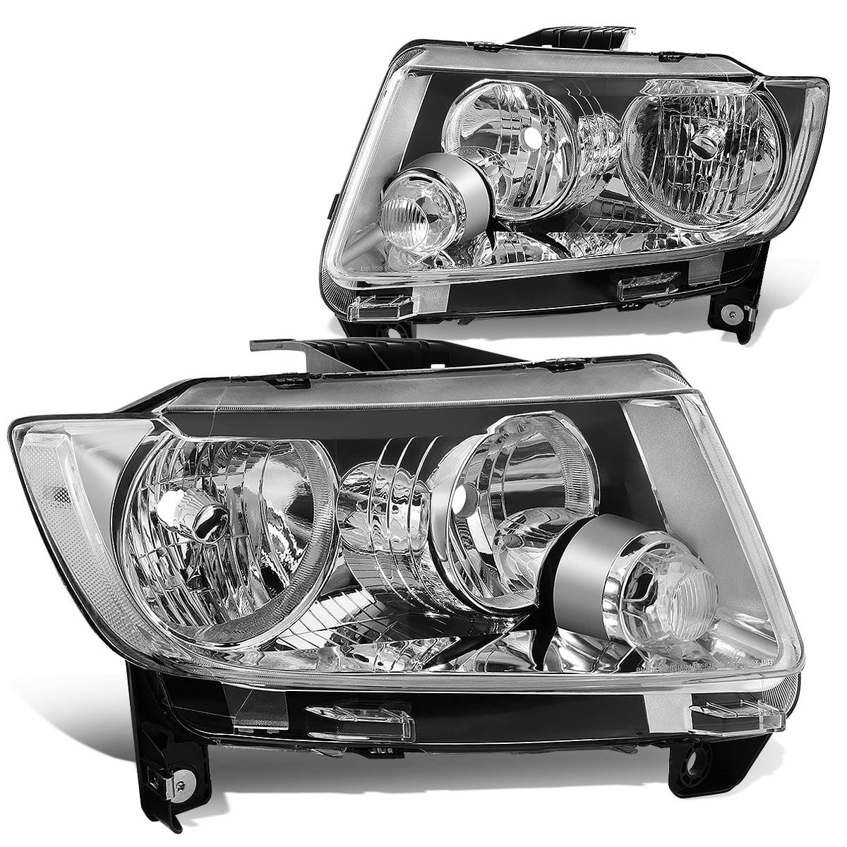 Chrome Housing Headlight Clear Corner Reflector for 11-13 Jeep Grand Cherokee