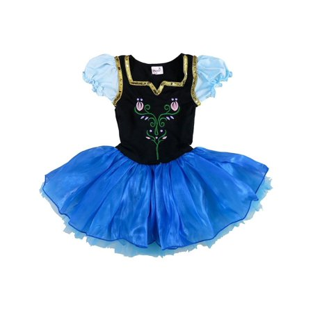Wenchoice Girls Royal Blue Anna Halloween Ballet Dress Costume