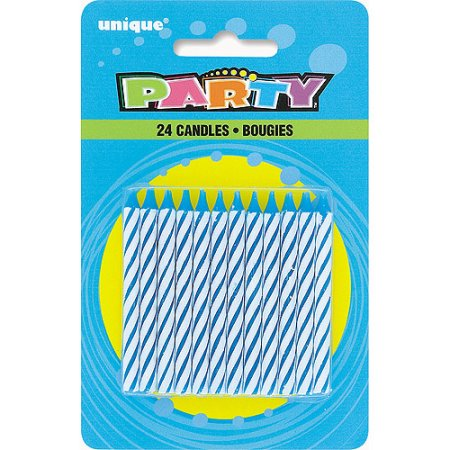 (4 Pack) Birthday Candles, 2.5 in, Blue, 24ct