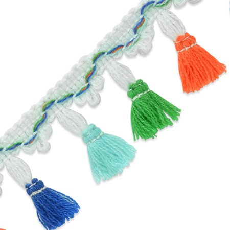 Expo Int'l 20 yards of Anitra Festive Tassel Fringe Trim 1 3/4