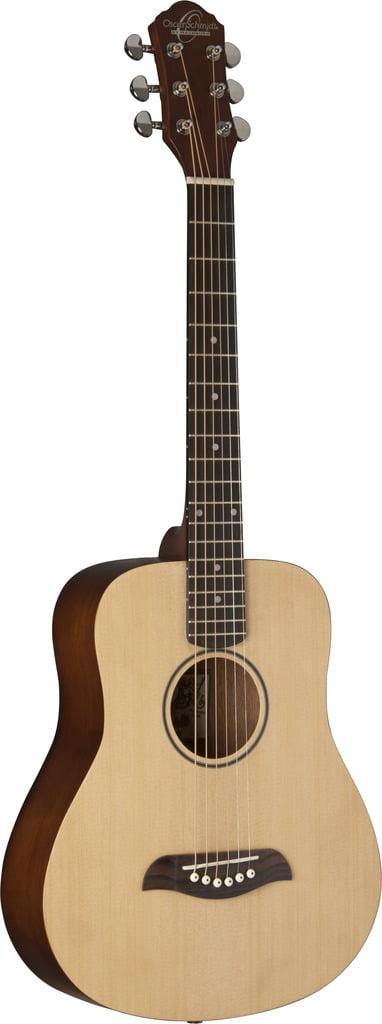 Oscar Schmidt Mini Travel Guitar, Spruce Top OGM8 by Oscar Schmidt