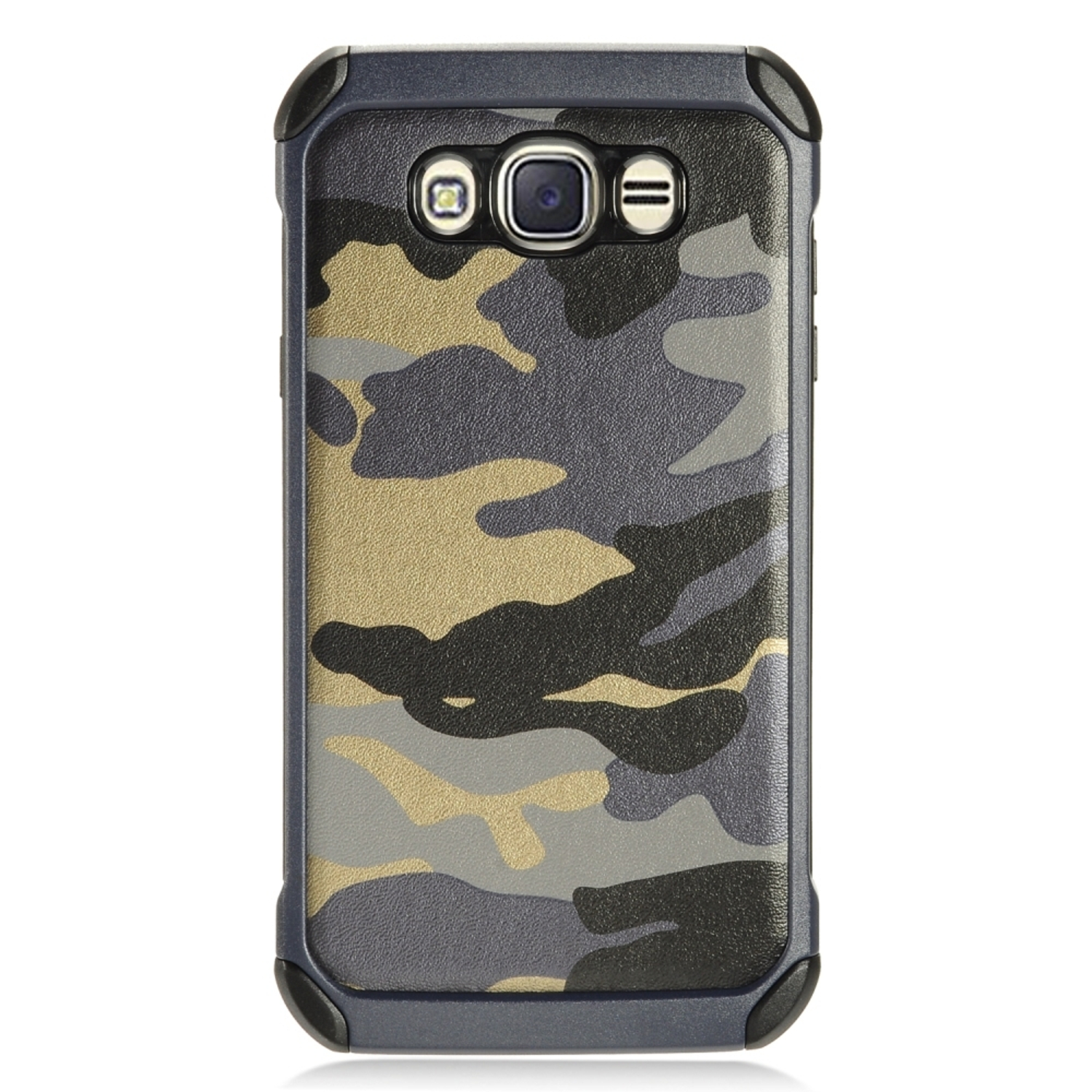 Samsung Galaxy J7 2016 Case, by Insten Camouflage Hybrid Dual Layer Hard Plastic/TPU Rubber Case Cover For Samsung Galaxy J7 (2016)
