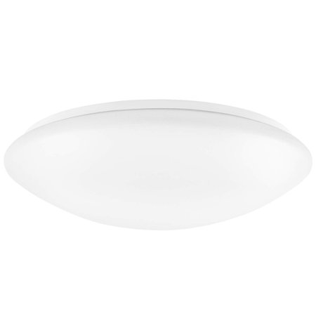 Luxrite 15 Inch LED Flush Mount Ceiling Light, 22W, 1600 Lumens, 3000K Soft White Dimmable, Modern Ceiling Light Fixture, Energy Star & UL Listed, Damp Location Rated ()
