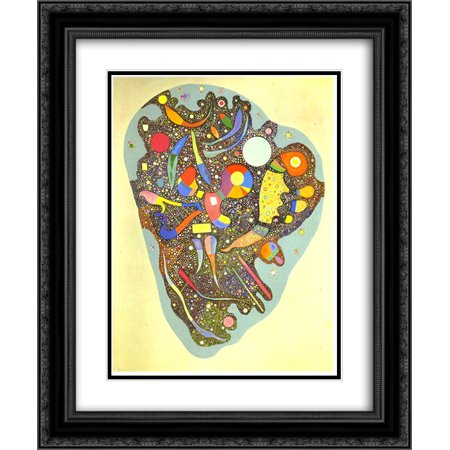 Wassily Kandinsky 2x Matted 20x24 Black Ornate Framed Art Print 'Colourful Ensemble'