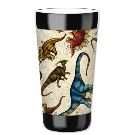 Mugzie 16-Ounce Tumbler Drink Cup with Removable Insulated Wetsuit Cover - Dinosaur Toss - Dinosaur Suit Rental