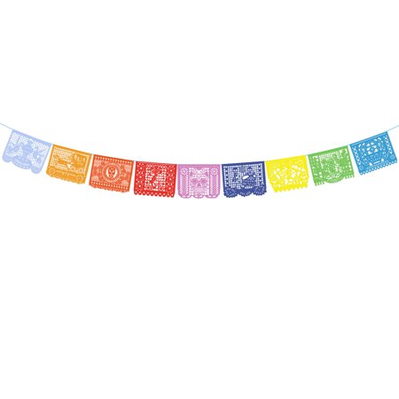 Day of the Dead Decoration Hollowed-out Skeleton Multicolor Mexican Papel Picado Banner](Cut Out Skeleton)