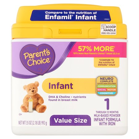 Parents Choice Infant Powder Formula With Iron  35Oz  Pack Of 4