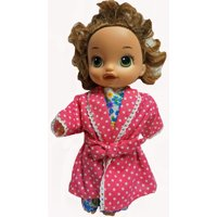 Doll Clothes Superstore Bathrobe & Flower Pajama Doll Clothes Fits Baby Alive And Little Baby Dolls